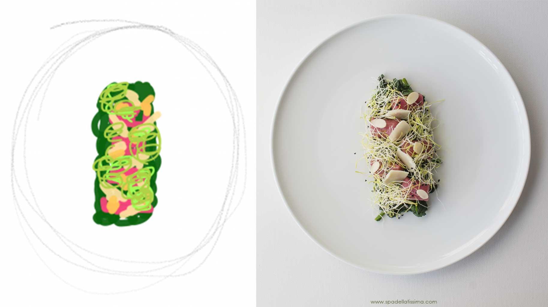 Impiattamento per contest Taste&More realizzato dalla food blogger Lina del blog Spadellatissima