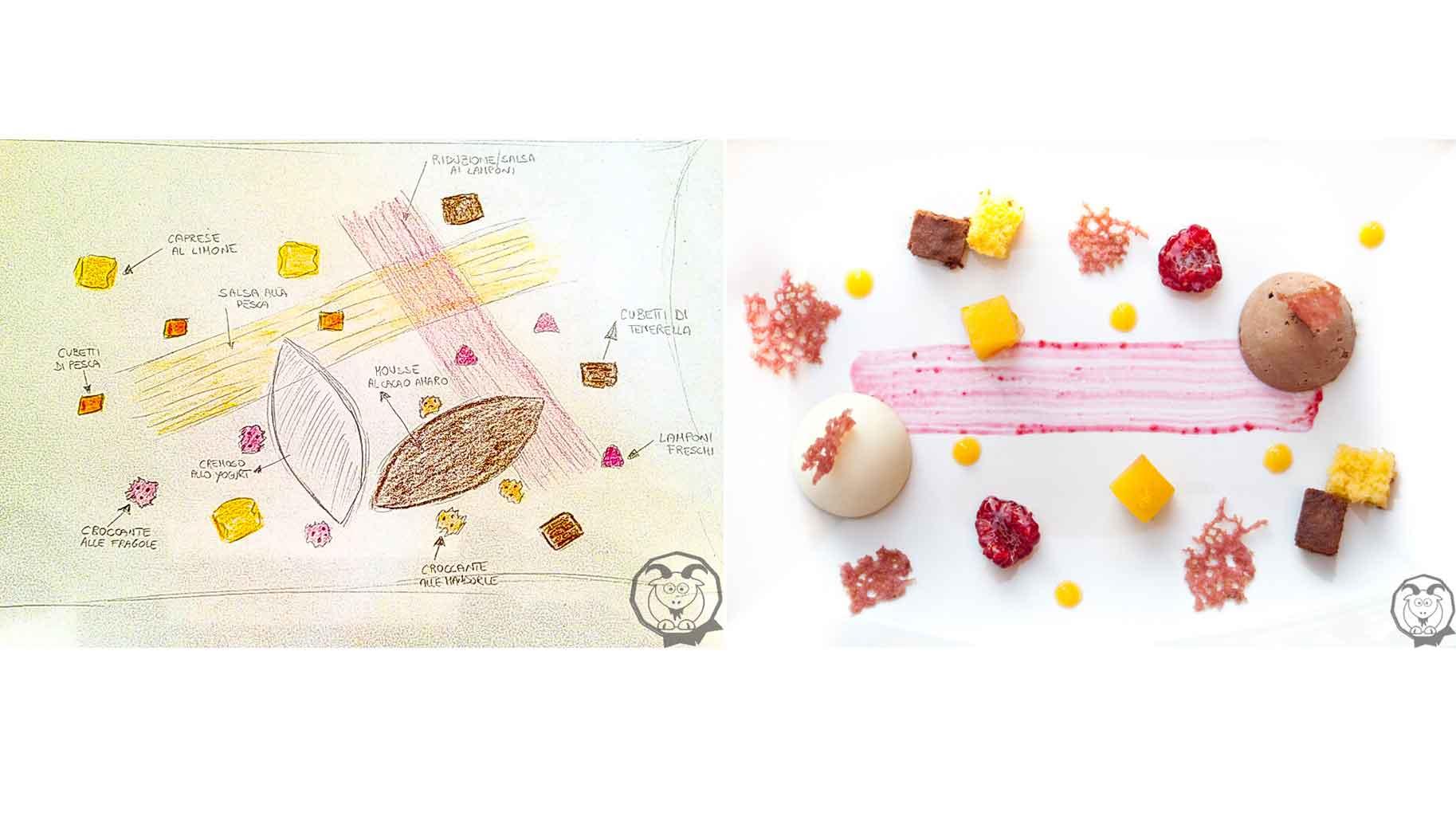 Impiattamento per contest Taste&More realizzato dalla food blogger Tamara Marongiu del blog Capretta Rossa