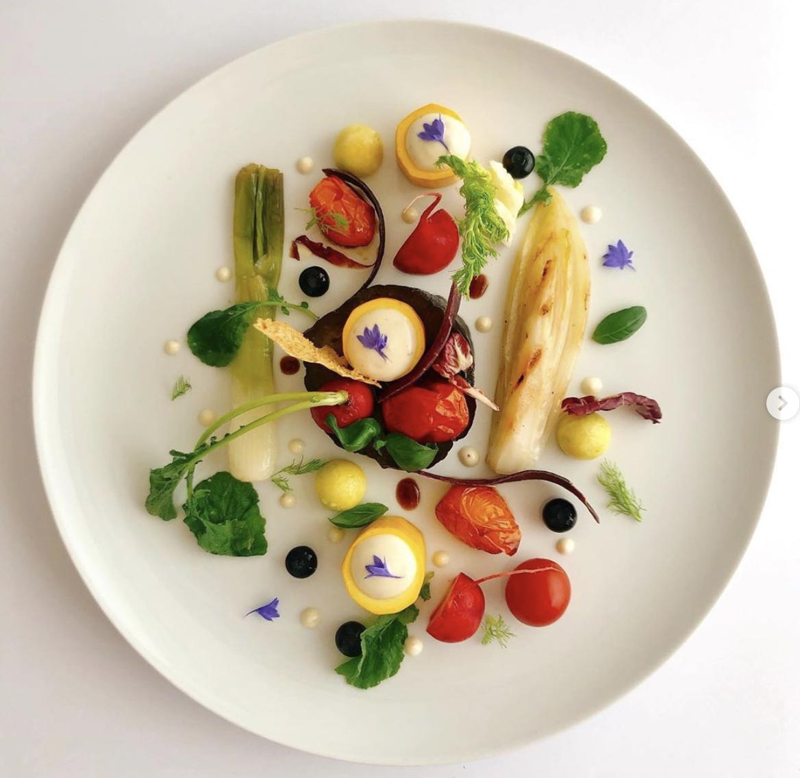 Impiattamento della chef Marzia Riva